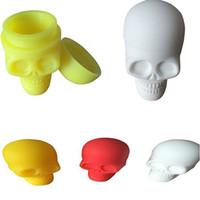 Wholesale 2016 Cool Design Silicone Skull Container ml Non stick Silicone Jars Dab Wax Vaporizer Oil Container