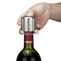 Wholesale Free DHL Hot Sale Stainless Steel Vacuum Sealed Red Wine Bottle Spout Liquor Flow Stopper Pour Cap