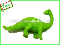 Wholesale 2016 stretchy plastic green dinosaur toys Novelty Gag Toys FreeShipping