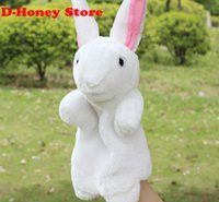Wholesale 2016 new Plush hand puppets Parent child early childhood toys The cute rabbit toy multicolor hand puppets cm high Quality