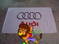 audi club - 100 polyester cm audi car racing team flag audi car club banner Digital Printing