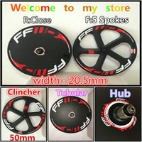 Wholesale 2016 May The Newest FFWD Tubular mm spokes Clincher Close carbon wheels Bicycle wheelset with mm width K A271 Hub