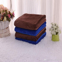 Wholesale 30X30 CM Blue Absorbent Wash Cloth Car Auto Care Microfiber Cleaning Towels E00101 SMA