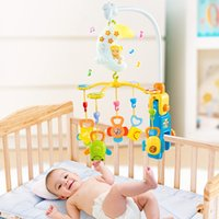 Wholesale The rotating bed baby music bell newborn baby rattles teething baby toy puzzle