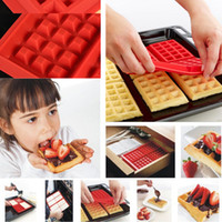 baking cake pans - Safety Cavity Waffles Cake Chocolate Pan Silicone Mold Baking Mould Kitchen