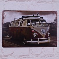Wholesale Retro Metal Tin Sign Luxury Bus Decor For The Pub Home Garage Wall Poster