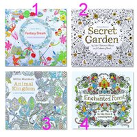 Wholesale DHL Secret Garden An Inky Treasure Hunt and Coloring Book Children Adult Relieve Stress Kill Time Graffiti Painting Drawing Book