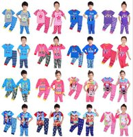 Wholesale 16Styles Love Mom Dad Kids Outfits Sets Newly Kids Spring Autumn Camouflage Pajamas Pyjamas Sets Kids Sleeping Clothes Christmas Gifts