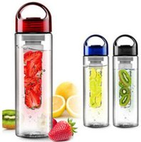 Wholesale 2016 High Quality new Solid Fruit Infuser Water Bottle Fruit Infusion Sports Bottle Flip Top Lid Made of Durable Eastman Tritan Cup