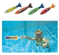 Wholesale 4PCS Pack Dive Torpedo Glides Under Water Swimming Pool throwing torpedo
