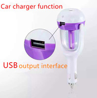 Wholesale USB car charger function Car Plug Air Humidifier Purifier Vehicular Aromatherapy Ultrasonic Humidifiers Purifiers Air Cleaning