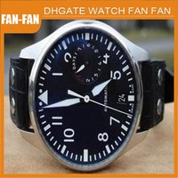 Wholesale Luxury Mens Automatic Black Dial Watch Men day Power Reserve Men s Leather Watches