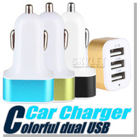 apple wireless adapter - For iPhone s Car Charger Traver Adapter Car Plug Hot Selling Triple USB Ports Car Charger DHL Without Package