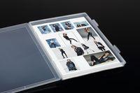 Wholesale A4 file case Transparent plastic box Proof box PP Storage Collections Container Magazine Organizers Box Case