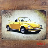 Wholesale VW BEETLS Tin Sign Bar pub home Wall Decor Retro Metal Art Poster