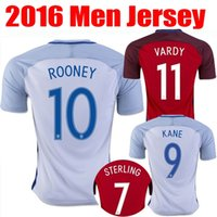 Wholesale 2016 England Soccer Jerseys Thai Quality Euro Cup HENDERSON16 WALCOTT KANE ROONEY STERLING BARKLEY RASHFORD football shirts