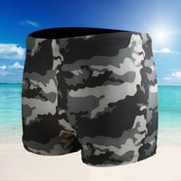 Wholesale Men s Camouflage Swimming Trunks Indoor And Outdoor Swimming Boxer Trunks Fashion Sexy Man Swimming Loose Trunks