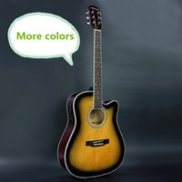 Wholesale More Colors Electro Acoustic Electric Folk Pop Flattop Guitar Inch Guitarra String Blue Black White Light Body Cutaway