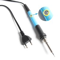 Wholesale New Arrive EU Plug V W Adjustable Temperature Electric Soldering Iron Pen Handle Solder Station Tool Welding Repair