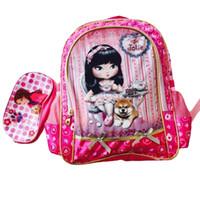 big boy schoolbags - Cartoon Girls Big School Bags Princess Schoolbags Children Backpack Primary Book Bag Lace Flower Travel Backpack For Girls