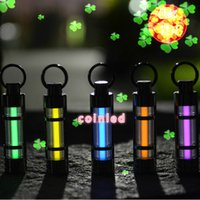 automatic emergency tube light - Titanium Alloy Neon Tube Keychain Ring Reminder Light Lamp Emergency Light Automatic Flashing For More Than Years No Battery