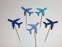 airplane baby shower cake - Airplane Cupcake Toppers wedding birthday baby shower Party food picks