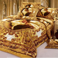 Reactive Print best duvet sets - Duvet Cover Duvet Cover Direct Selling New for Queen Full Bed Best Luxury Yellow Famous Painting Print Piece Bedding Sets