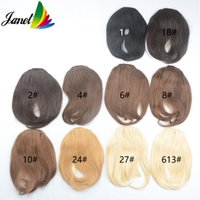 Wholesale Bangs or Fringes Human straight hair clips g Clip in on hair extensions width cm length cm Janet Colorful