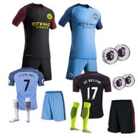Wholesale Best selling new Manchester City Jerseys kit Socks DZEKO KUN AGUERO KOMPANY TOURE YAYA DE BRUYNE Home Away Shirt