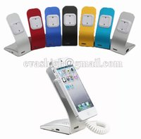 Wholesale 10pcs Simple metal cell phone security display alarm stand with charging alarm fuction for mobile phone anti theft holder retail store