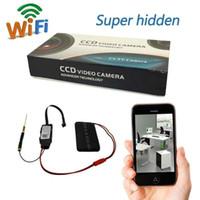 Wholesale HD P WiFi SPY Hidden Camera DIY Module IP Remote Camera Video Recorder Mini DV Home Security Motion Detection Nanny Cam DVR