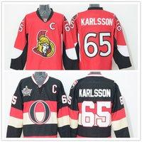 Wholesale 2016 New Erik Karlsson Cheap Men s Red white Black Top Quality premier Ice Hockey Jerseys