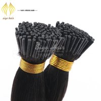 Wholesale 1g strand g Brazilian I tip Human Pre bonded Hair Extensions Virgin Remy Human Hair Brazilian Straight Keratin Hair Extensions