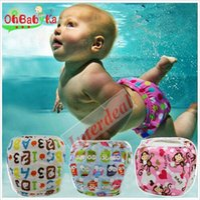 Wholesale Baby Swim Diapers Training Pants Toddler Swimming Nappies Summer Swimwear Board Short Trunks Reusable Adjustable Nappy Swim Pants B113