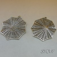Wholesale floating charms DIY jewelry parts neklacts pendant accessories charm Spider web x53mm