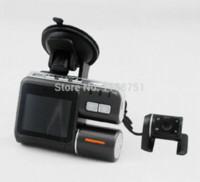 Hot Camcorder i1000 Car DVR doble cámara HD 1080P Allwinner Dash Cam caja negra con cámara trasera 2 Cam View Dashboard Cámaras