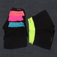 Wholesale Women Yoga Shorts Pants Elastic Running Shorts Yoga Gym Fitness Pants Training Compression colors LJJG399