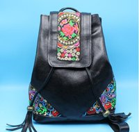 Wholesale 2016 China original national style bag leather bag women embroidered bag retro embroidery bag