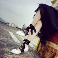 american metal heels - hot shoes spring new influx of European and American ballet flat shoes foot ring metal buckle cross straps punk singles shoes