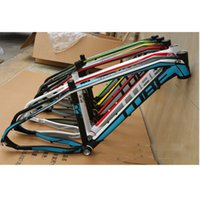 Wholesale New Cube Reaction X16 quot quot MTB Mountain Bike Carbon Fiber Bicycle Frame Full Suspension Frame BSA Frame Bowl