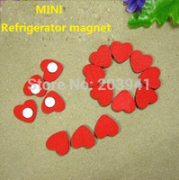 Wholesale Creative Manual Romantic Heart design Wooden DIY Multifunction Refrigerator magnet wooden sticker