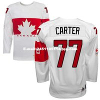 Cheap Retro throwback #77 JEFF CARTER Team Canada Jersey OLYMPIC HOCKEY free shipping Customize any size player name number