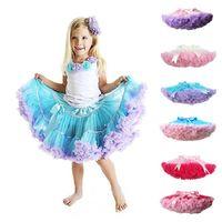 baby petti skirts - 18 colors Baby Girlsprincess skirt Bow Petti Skirts Tutu Tutus Pettiskirts Red Ruffles Children s Skirts Kids Clothing