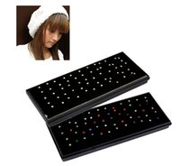 Wholesale 60Pcs Box Packed Europe mm L Medical Titanium Steel Diamond Fake Nose Stud Nose Rng Body Piercing Jewelry