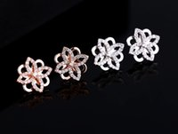 al series - Korean style classic big customized earrings ear jewelry series of high end micro inlaid CZ series of Earrings Sterling Silver anti al