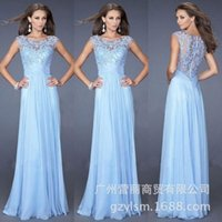 Wholesale 2016 wedding dresses of Europe and the United States women s evening dress lace stitching perspective sexy dress backless dress evening dres