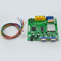 Wholesale New Arrival HD9820 Video Converter Board Support CGA EGA VGA YUV to VGA Component Signal Input