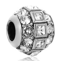 Wholesale Disco Ball crystals charms disco lights Occasions sterling silver charms fit European Bracelets No95 X246