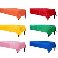 Wholesale Thick solid rectangular disposable table cloth Waterproof Table Cover tablecloth christmas birthday wedding decoration party supplies
