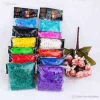 12 couleurs paquets / Lot Vente chaude familiales pèsent Bands Bracelet caoutchouc, Recharges de métiers à tisser en silicone de bricolage (300 bandes + 12S-Clips / paquet)